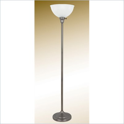 Coaster Floor Lamp in Brushed Pewter