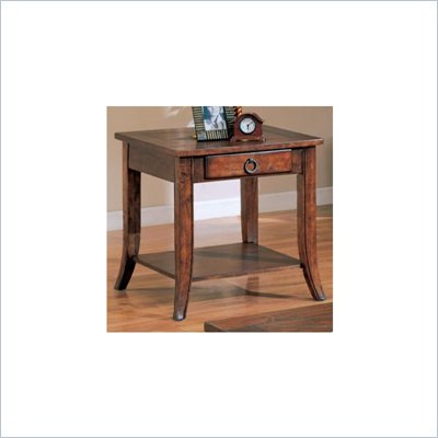 Coaster Franklin End Table with Slate Tile Top and Storage