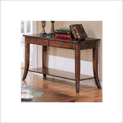 Coaster Franklin Rectangular Sofa Table with Slate Tile Top and Storage