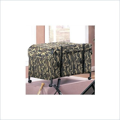 Coaster Kids Bunk Bed Toy Chest in Camouflage