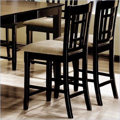 Coaster Geneva Grid Counter Height Upholstered Chair in Cappuccino