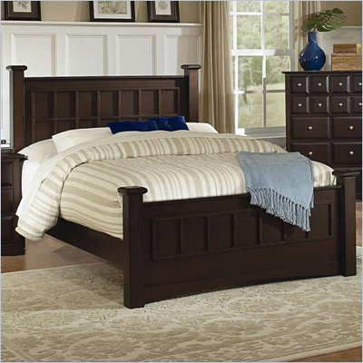 Coaster Harbor Panel Post Bed in Cappuccino Finish