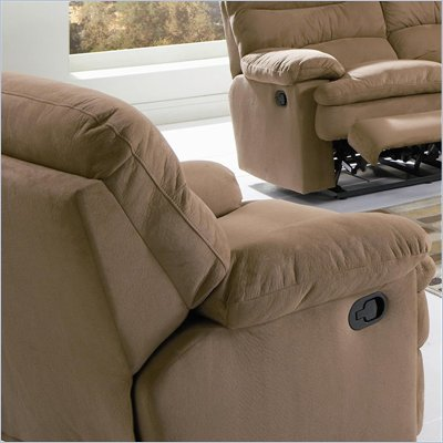 Coaster Harmon Recliner in Mocha Brown Microfiber