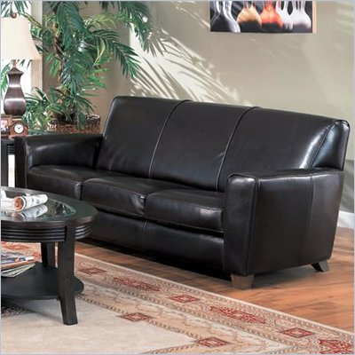 Coaster Furniture Bycast Espresso Brown Leather Sofa