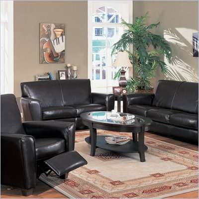 Coaster Furniture Bycast Espresso Brown Leather Sofa Set