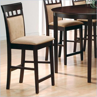 Coaster Hyde 30 Inch Upholstered Panel Back Cappuccino Bar Stool