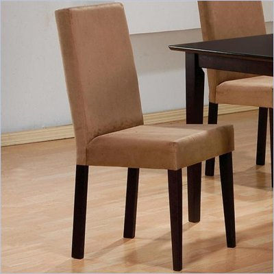 Coaster Hyde Upholstered Parson Dining Chair in Rich Dark Cappuccino