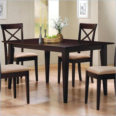 Coaster Hyde Rectangle Leg Dining Table in Rich Dark Cappuccino