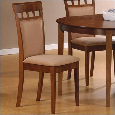 Coaster Hyde Upholstered Back Panel Side Chair with Fabric Seat