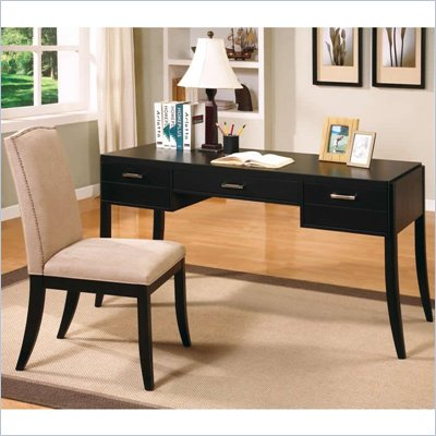 Coaster Jamesburg Contemporary Table Desk and Chair Set in Cappuccino