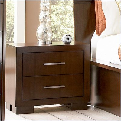 Coaster  Two Drawer Nightstand in Light Cappuccino Finish