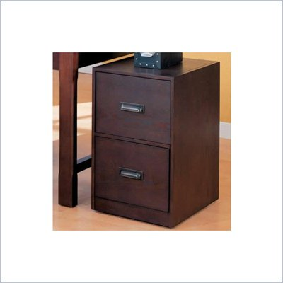 Coaster Laval Monile Filing Cabinet with Two Drawers in Espresso