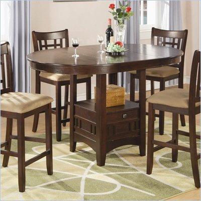Coaster Lavon Counter Height Dining Table in Cherry  Finish