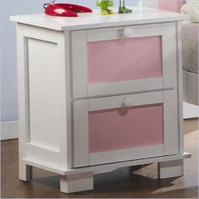 Coaster Lindsley Nightstand with Interchangeable Panels in White