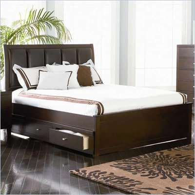 Coaster Lorretta Platform Storage Bed in Dark Brown Finish