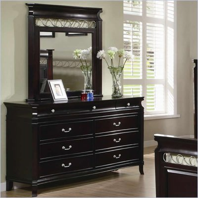 Coaster Manhattan 9 Drawer Dresser and Mirror Set