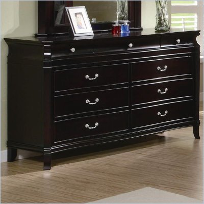 Coaster Manhattan Dresser with 9 Drawers in Dark Espresso Finish
