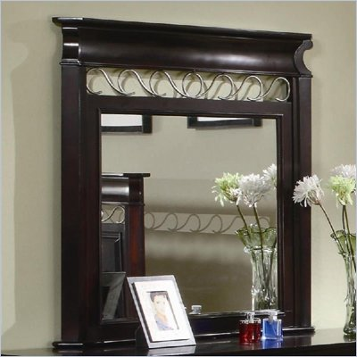 Coaster Open Panel Mirror in Dark Espresso Finish