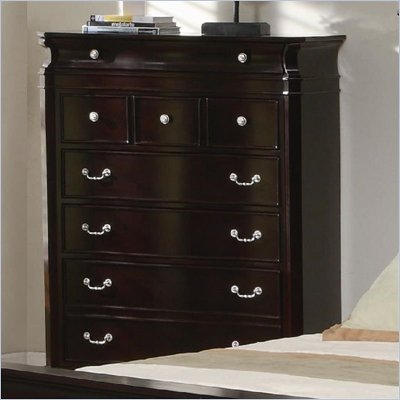 Coaster Manhattan Chest with 6 Drawers in Dark Espresso Finish