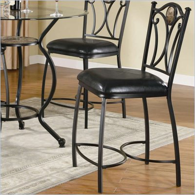 Coaster Monroe Metal Counter Height Chair w/ Faux Leather Seat