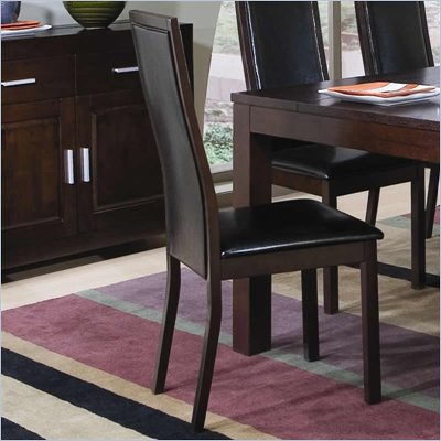 Coaster Morningside Dining Side Chair w/ Faux Leather Seat &amp; Back