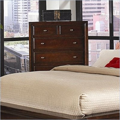 Coaster Nadine 6 Drawer Chest in Warm Brown Finish
