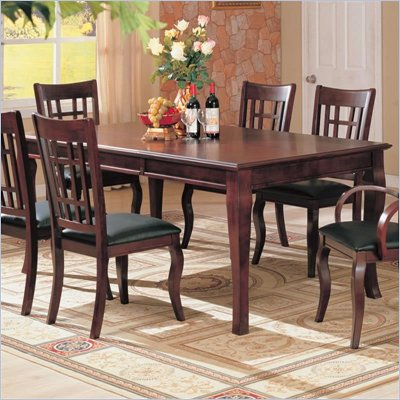 Coaster Newhouse Rectangular Dining Table in Cherry Finish