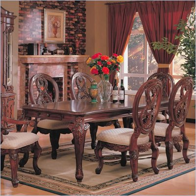 Coaster Nottingham Rectangular Dining Table with Cabriole Legs in Rich Brown