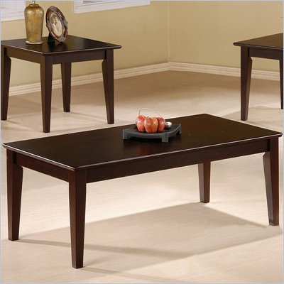 Coaster 3 Piece Occasional Table Set with Tapered Legs