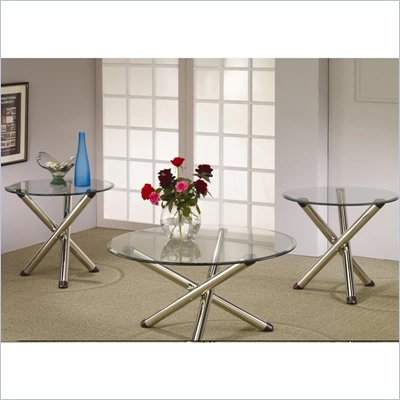 Coaster 3 Piece Occasional Table Sets Glass Coffee and End Table Set