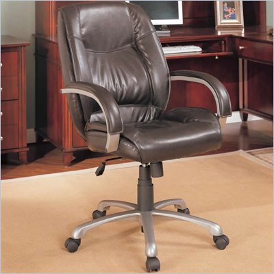 Coaster Office Chairs Faux Leather Office Task Chair in Brown