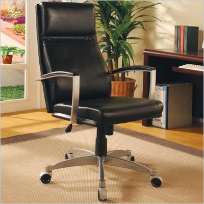 Coaster Office Chairs Contemporary Faux Leather Executive Chair