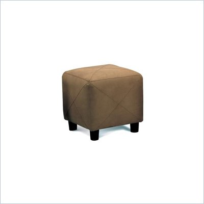 Coaster Mocha Contemporary Microfiber Cube Ottoman