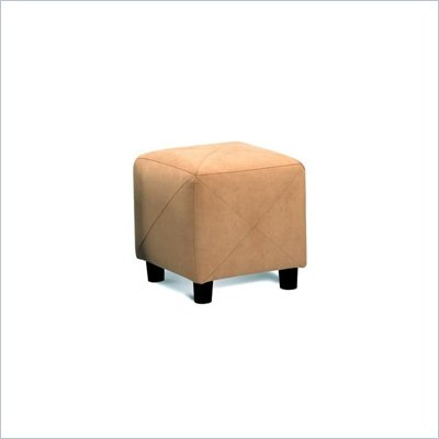 Coaster Contemporary Microfiber Cube Ottoman in Tan