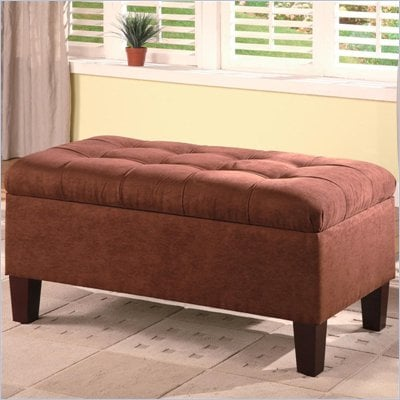 Coaster Contemporary Rectangular Chocolate Storage Ottoman