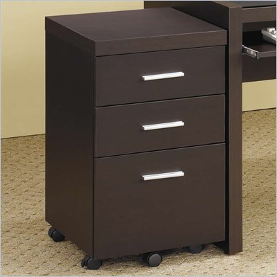 Coaster Papineau Mobile File Cabinet with 3 Drawers in Dark Cappuccino