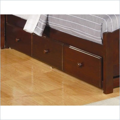 Coaster Parker Underbed Storage Drawer Unit in Deep Dark Cappuccino