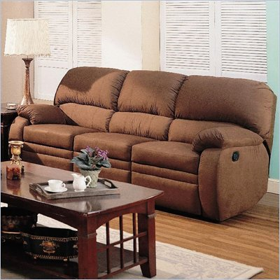 Coaster Paulina Reclining Sofa in Chocolate Padded Microfiber
