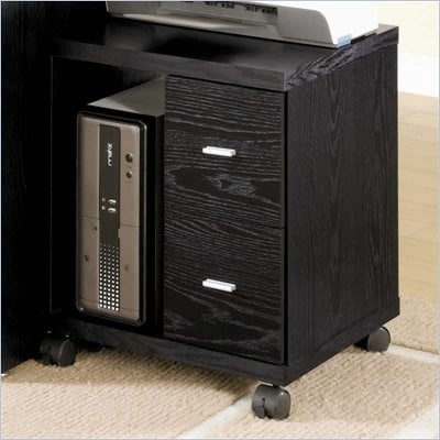 Coaster Peel 2 Drawer Computer Stand in Black