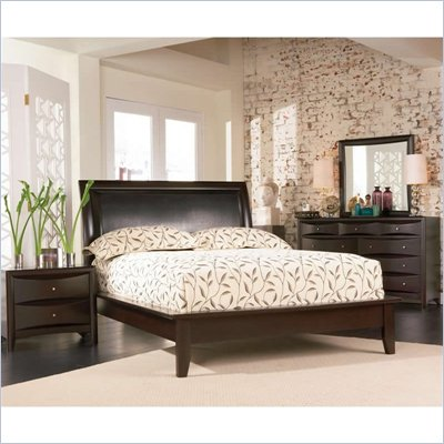 Coaster Phoenix Platform Bed 5 Piece Bedroom Set in Cappuccino