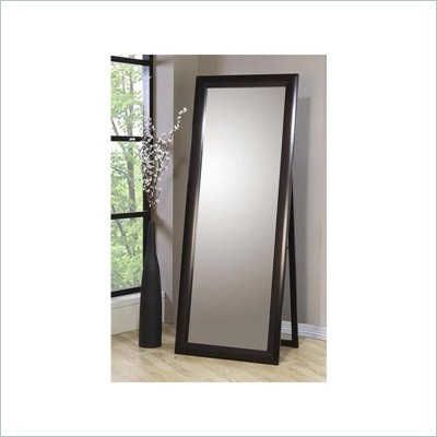 Coaster Phoenix Standing Floor Mirror in Deep Cappuccino Finish