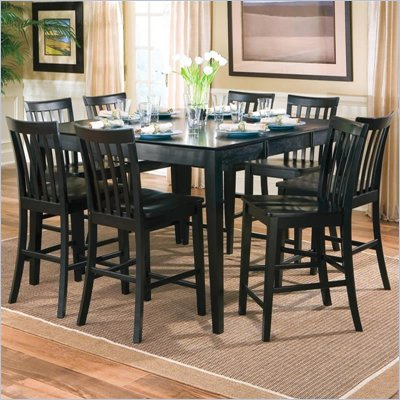 Coaster Pines Counter Height Dining Table with Leaf in Black