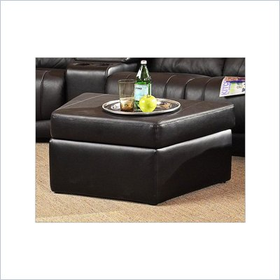 Coaster Furniture Theater Wedge Storage Ottoman in Black