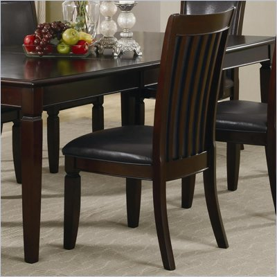 Coaster Ramona Formal Dining Room Side Chair in Walnut Finish