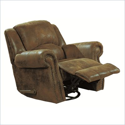 Coaster Rawlinson Recliner Chair in Brown Microfiber