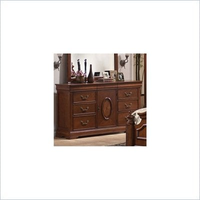 Coaster  Traditional Six Drawer Dresser in Rich Caramel Finish