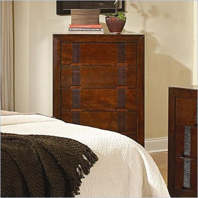 Coaster Resin Drawer Chest in Warm Medium Brown Finish