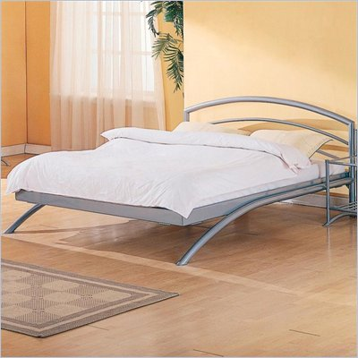 Coaster Robbinsville Queen Metal Platform Bed in Silver Finish