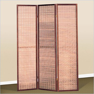 Coaster Three Panel Screen Room Jute Inlay Divider