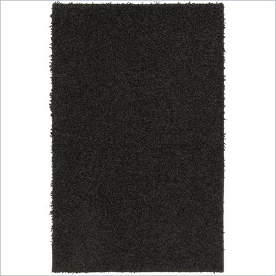 Coaster Solid Black Shag Rug